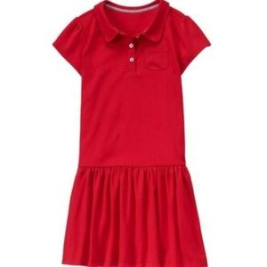 NWT - Girls Gymboree Red Uniform Dress - Size 12